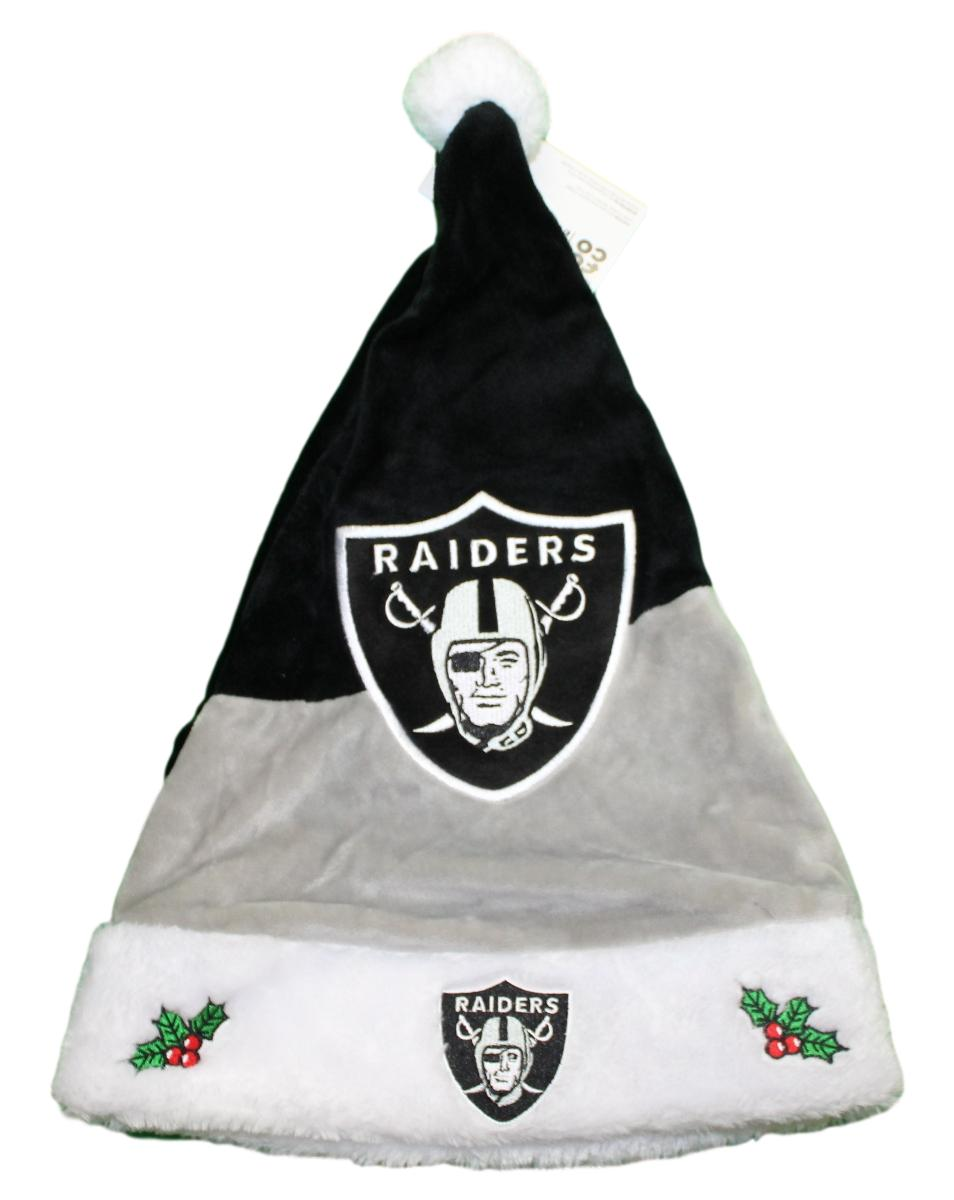 Oakland Raiders 2018 NFL Basic Logo Plush Christmas Santa Hat