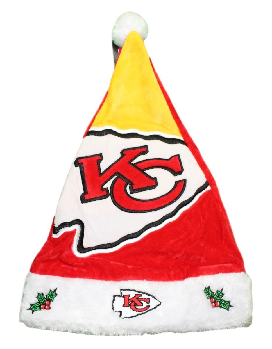 Kansas City Chiefs 2018 NFL Basic Logo Plush Christmas Santa Hat