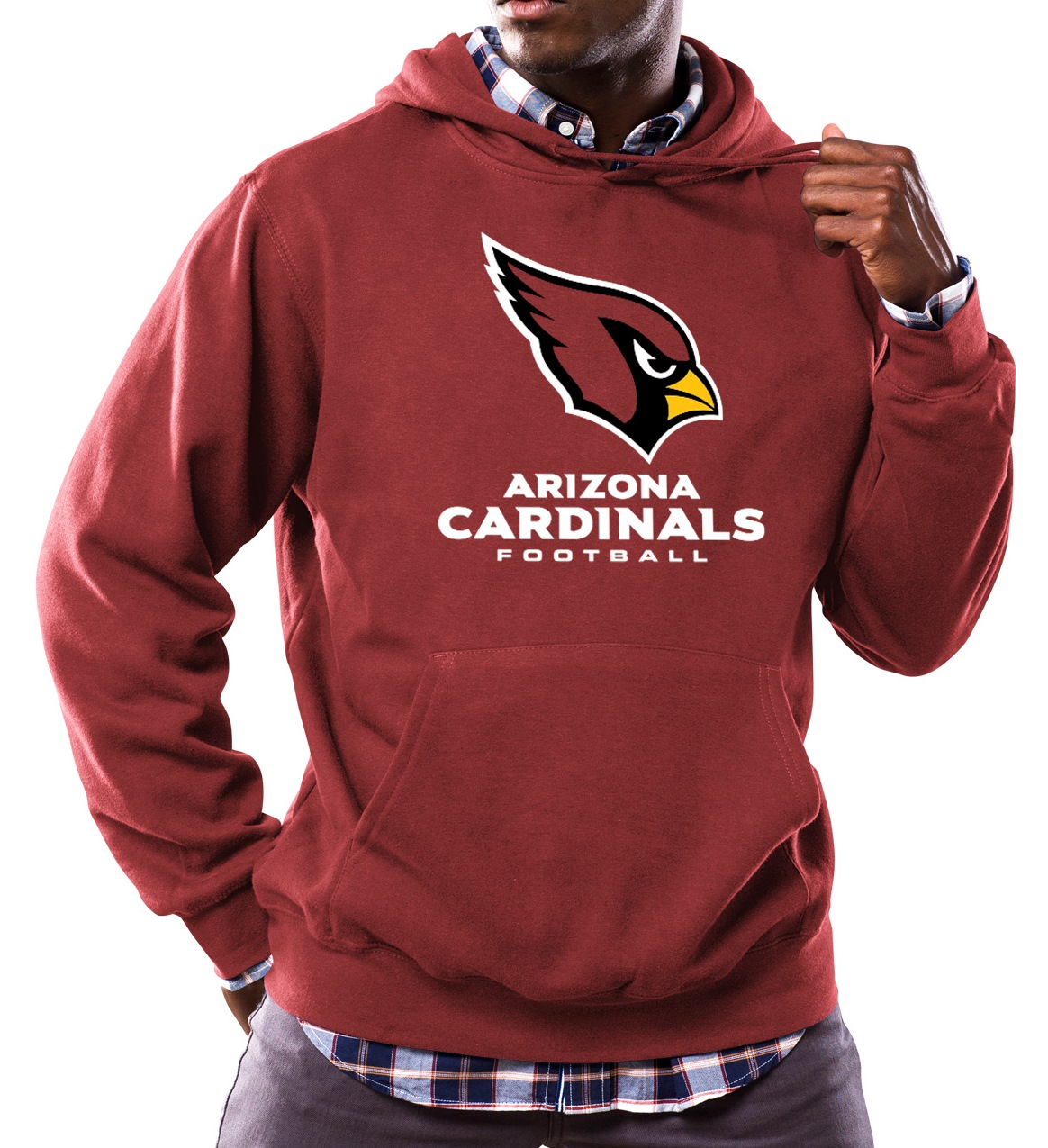 "Arizona Cardinals Majestic NFL ""Critical Victory 3"" Men's Hooded Sweatshirt"