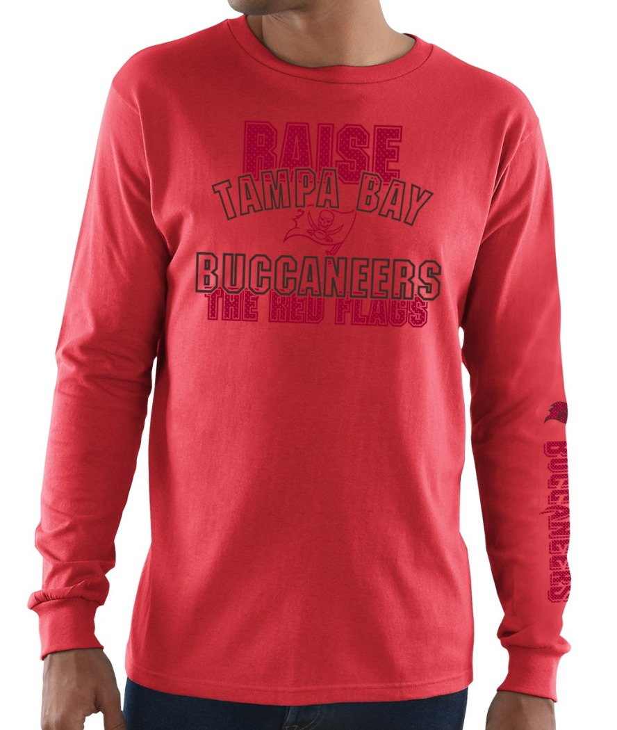 Tampa Bay Buccaneers Majestic NFL Primary Receiver 3 Men's Long Sleeve T-Shirt