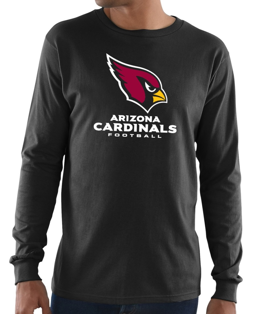 "Arizona Cardinals Majestic NFL ""Critical Victory 3"" Men's L/S T-Shirt - Black"