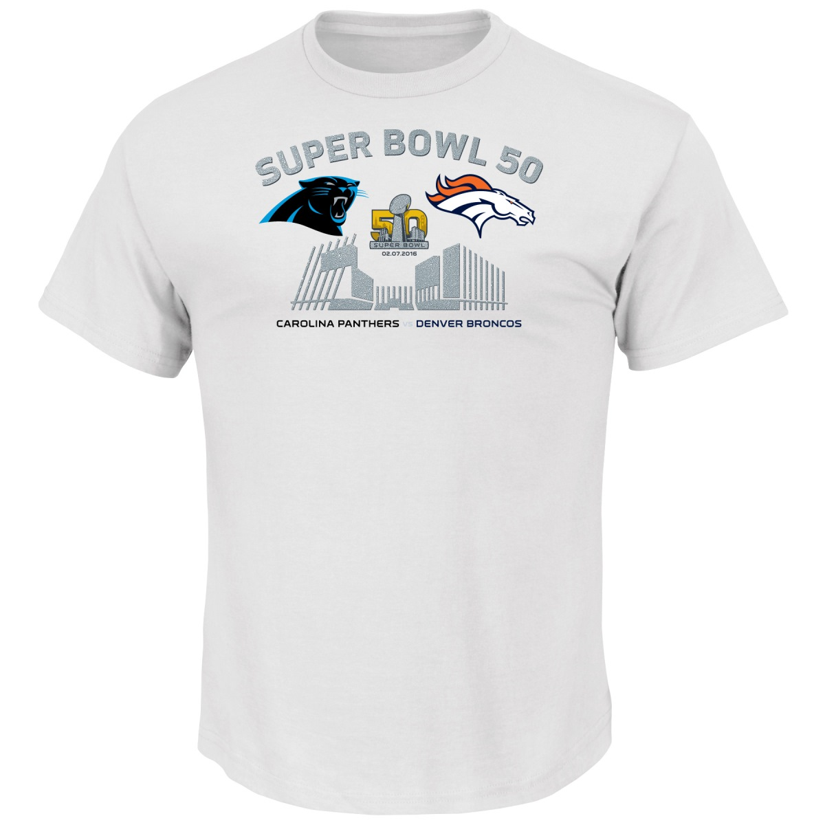 Carolina Panthers vs Denver Broncos NFL Super Bowl 50 Realm S/S T-Shirt