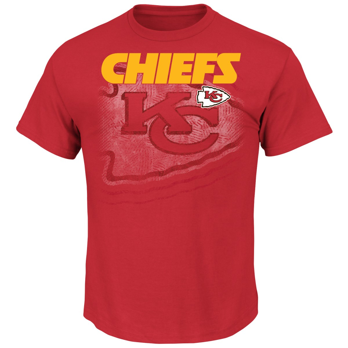 "Kansas City Chiefs Majestic NFL ""Empty Backfield"" Men's Short Sleeve T-Shirt"
