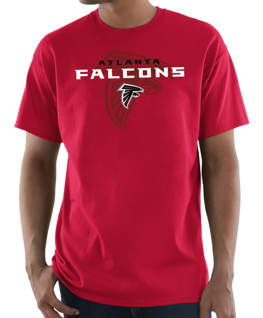 "Atlanta Falcons Majestic NFL ""Pick Six"" Men's Short Sleeve T-Shirt - Red"