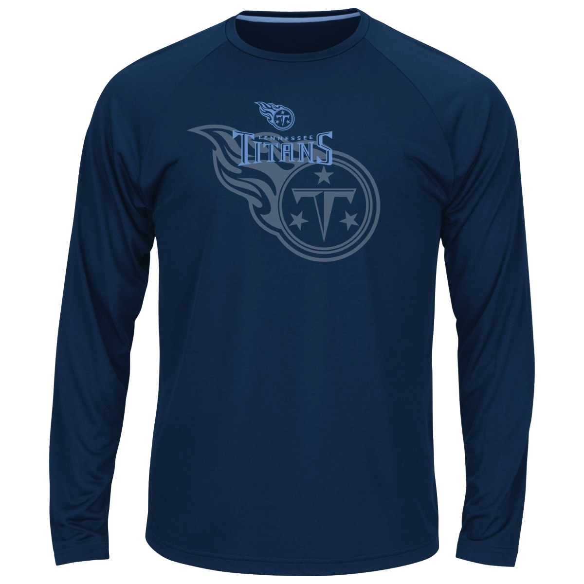 "Tennessee Titans Majestic NFL ""Swift Pass"" Men's Cool Base L/S Shirt - Navy"