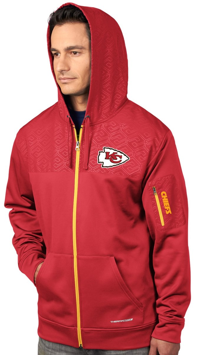 "Kansas City Chiefs Majestic ""Action"" Men's F/Z Therma Base Hooded Sweatshirt"