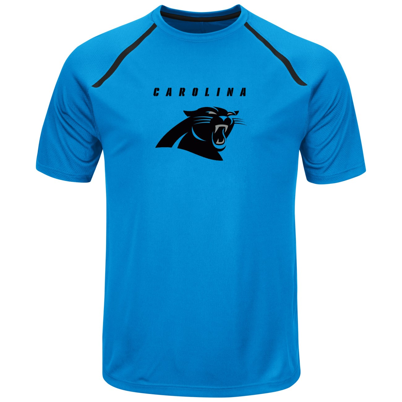 "Carolina Panthers Majestic NFL ""Fanfare 8"" Men's Short Sleeve Cool Base Shirt"