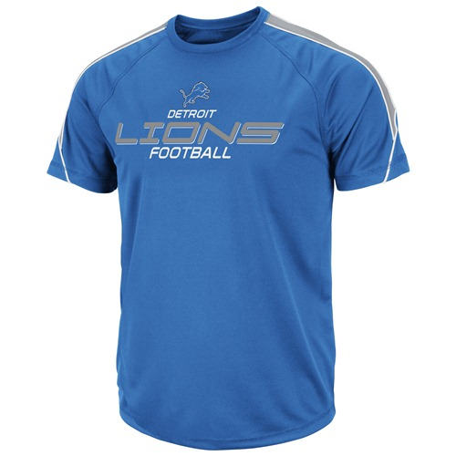 Detroit Lions Majestic FanFare V Blue Performance Shirt