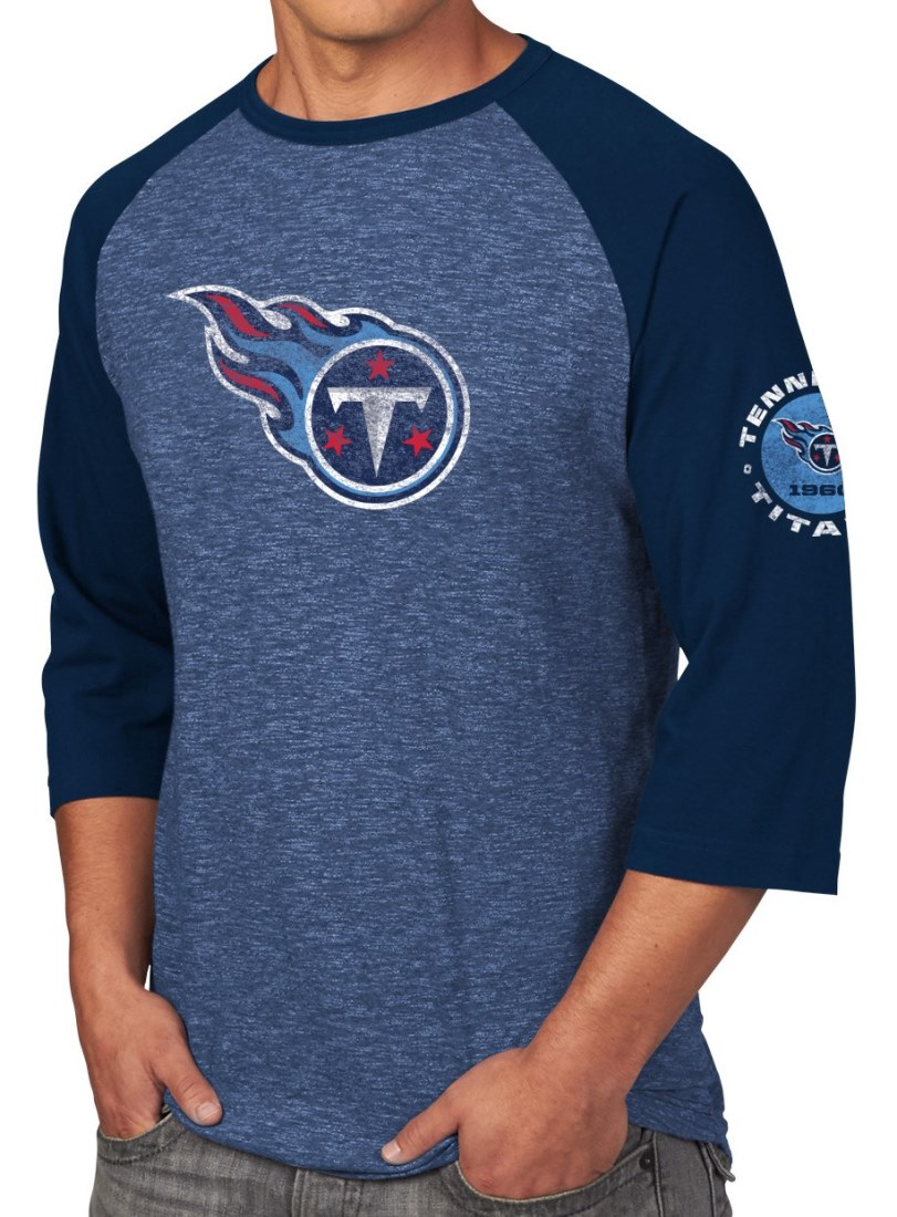 "Tennessee Titans Majestic NFL ""Great Move"" Men's 3/4 Sleeve Tri-Blend T-Shirt"