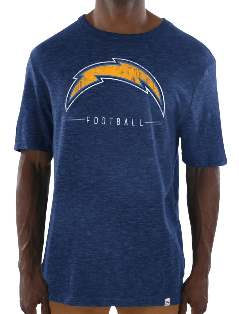 "Los Angeles Chargers Majestic NFL ""Hyper Stack"" Men's Premium Slub T-Shirt"