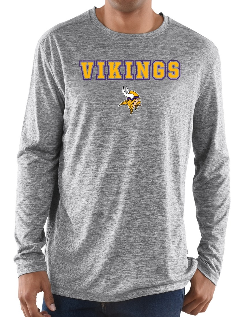 "Minnesota Vikings Majestic NFL ""Intensity"" Men's L/S Performance Shirt"