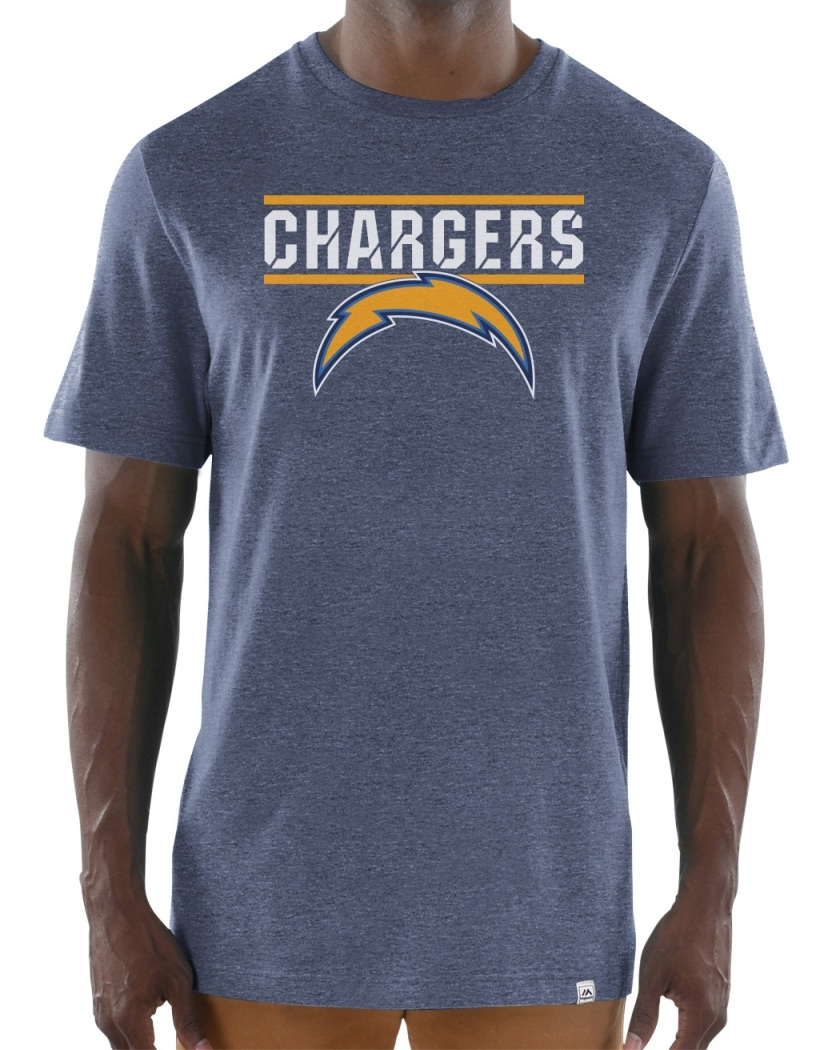 "Los Angeles Chargers Majestic NFL ""Flex Team"" Men's Premium Tri-Blend T-Shirt"