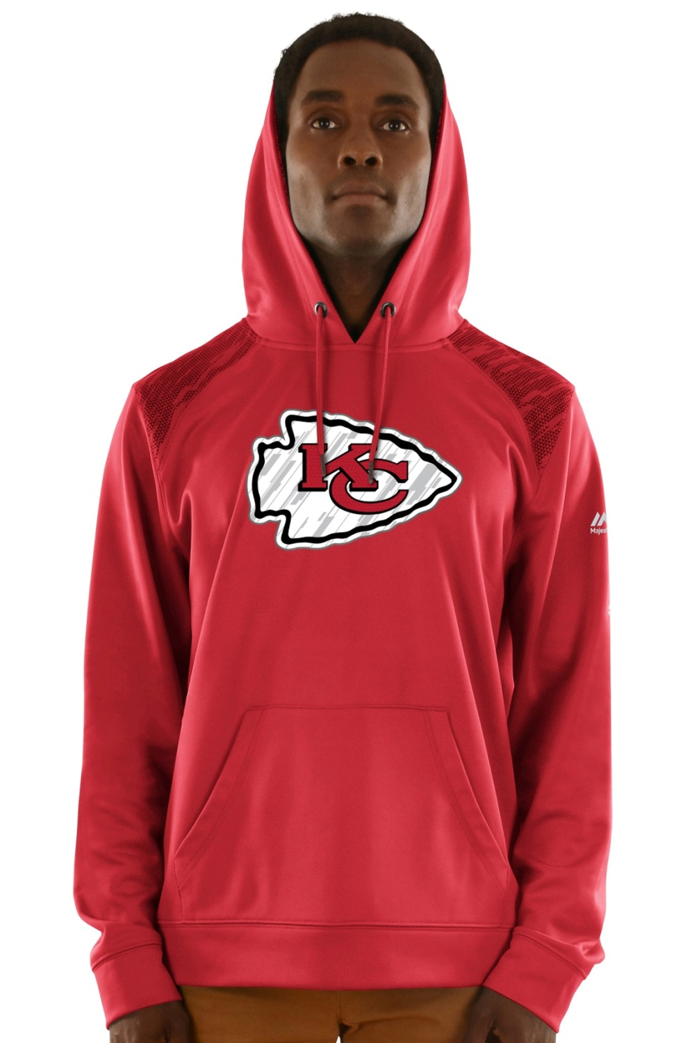 "Kansas City Chiefs Majestic NFL ""Armor 3"" Men's Pullover Hooded Sweatshirt"