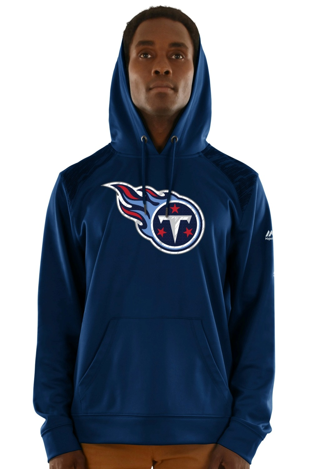 "Tennessee Titans Majestic NFL ""Armor 3"" Men's Pullover Hooded Sweatshirt"