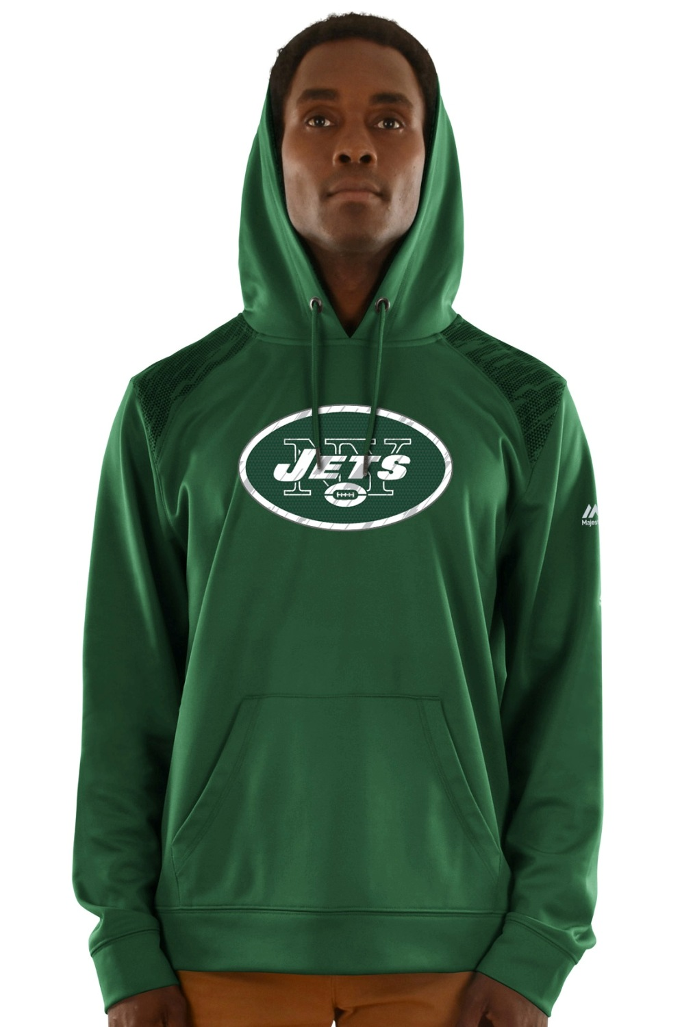 "New York Jets Majestic NFL ""Armor 3"" Men's Pullover Hooded Sweatshirt"