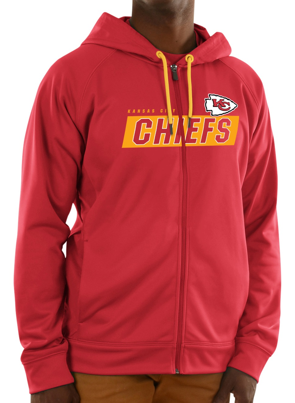 "Kansas City Chiefs Majestic NFL ""Game Elite 2"" Men's Full Zip Hooded Sweatshirt"