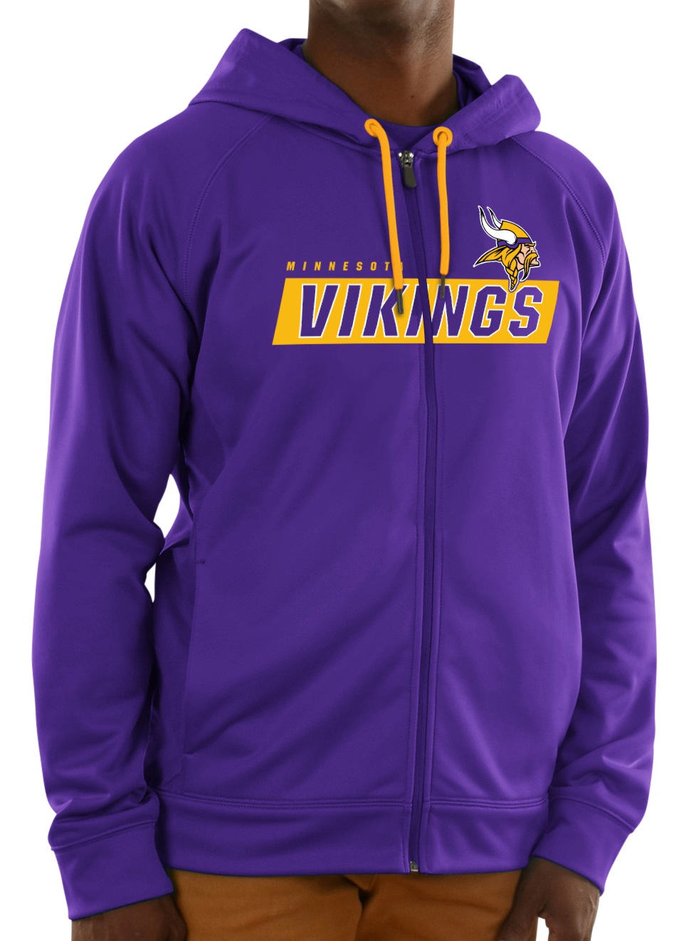"Minnesota Vikings Majestic NFL ""Game Elite 2"" Men's Full Zip Hooded Sweatshirt"