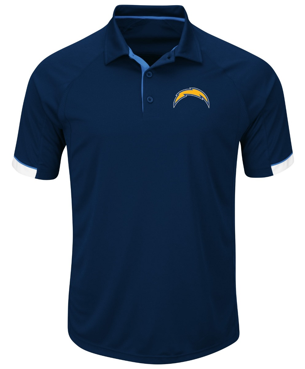 "Los Angeles Chargers Majestic NFL ""Last Minute Win"" Men's Short Sleeve Polo"