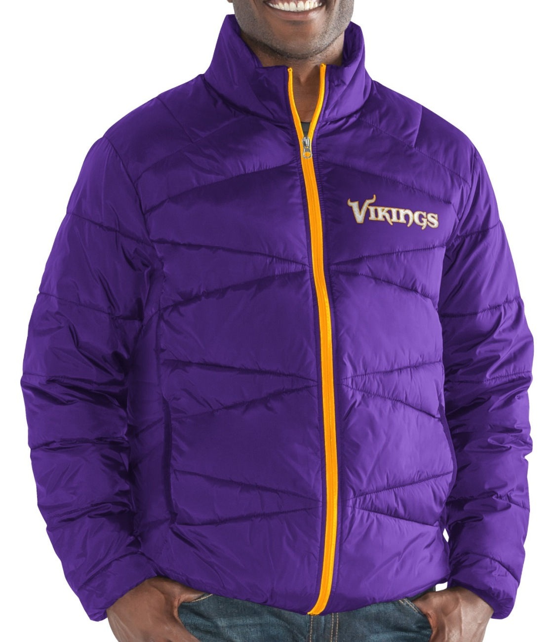 "Minnesota Vikings Men's NFL G-III ""Blitz"" F/Zip Packable Quilted Jacket with Bag"