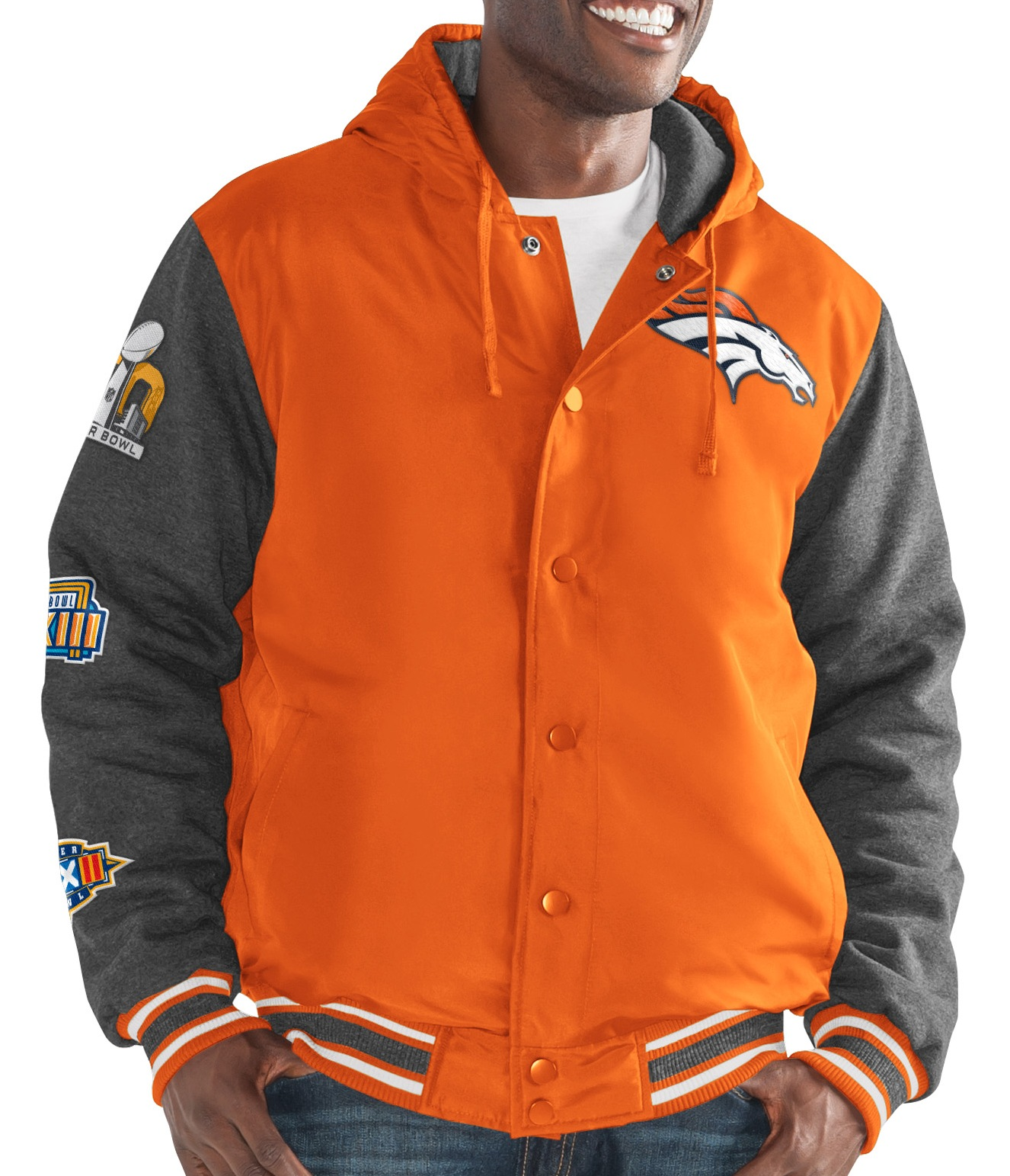 "Denver Broncos G-III NFL ""Top Brass"" Men's Premium Varsity Jacket"