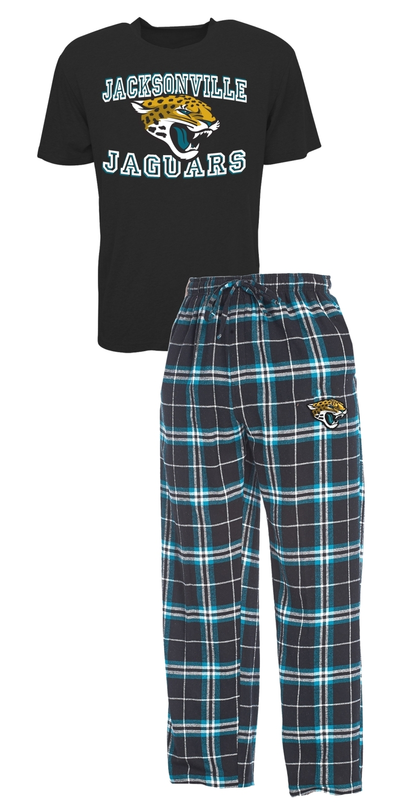 "Jacksonville Jaguars NFL ""Great Duo"" Men's T-shirt & Flannel Pants Sleep Set"