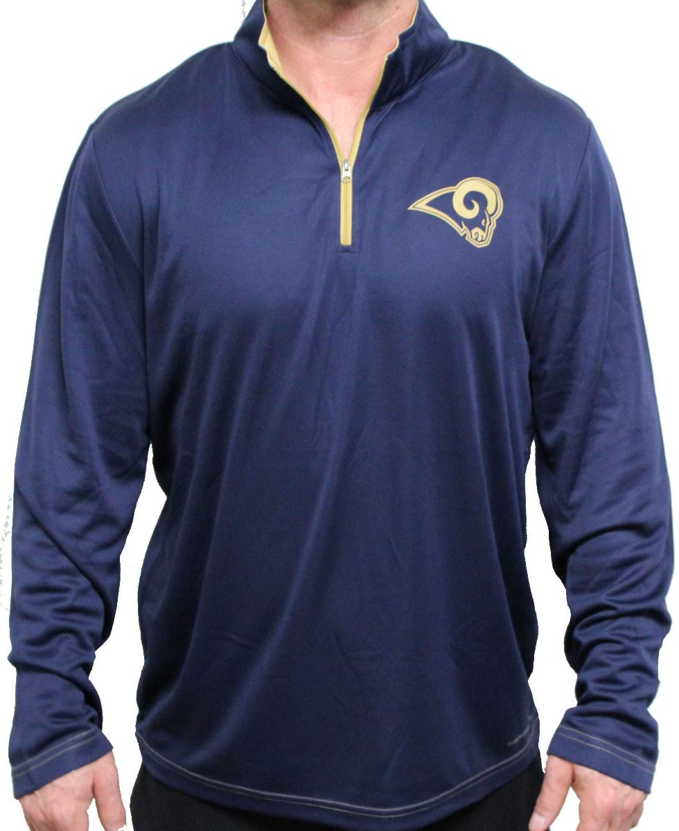 "St. Louis Rams Majestic ""Ready"" Men's 1/4 Zip Therma Base Pullover Shirt"