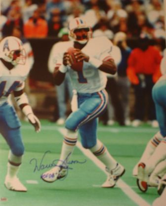 Warren Moon Signed 16x20 Inscribed