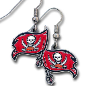 NFL Dangling Earrings - Tampa Bay Buccaneers Logo