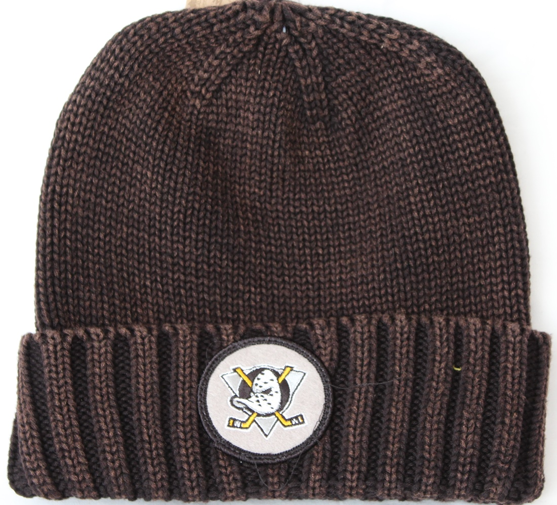 Anaheim Ducks Mitchell & Ness NHL Vintage Ribbed Cuff Knit Hat