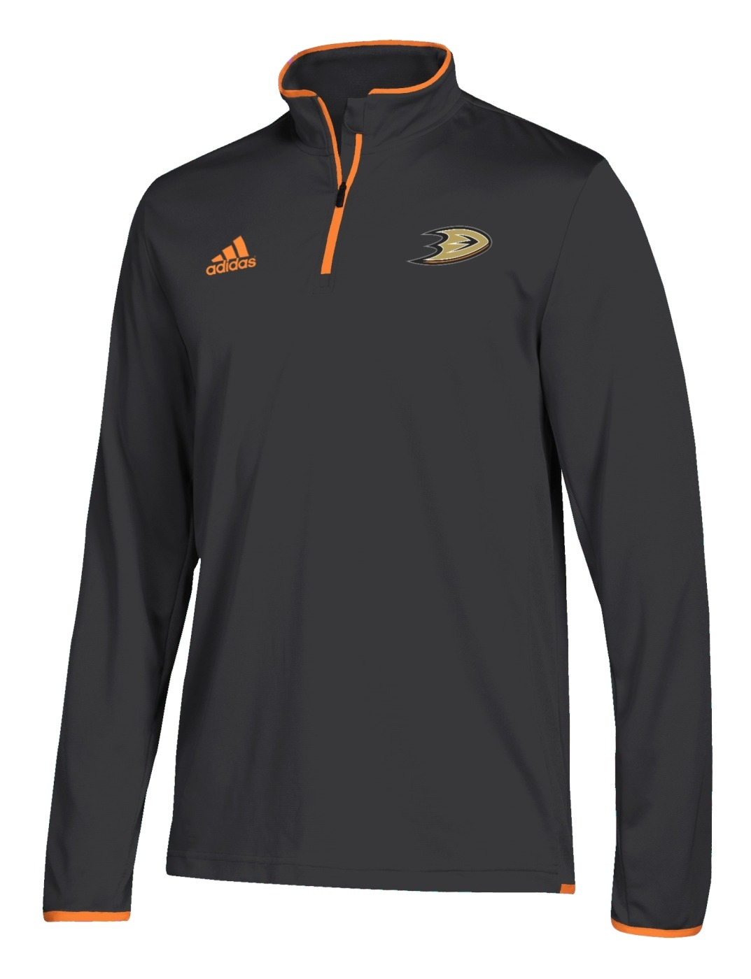 Anaheim Ducks Adidas NHL Men's 2018 Authentic Pro 1/4 Zip Wind Shirt