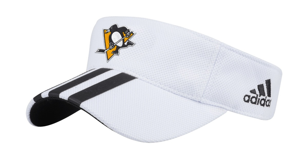 "Pittsburgh Penguins Adidas NHL ""2 Line Pass"" Performance Adjustable Visor"