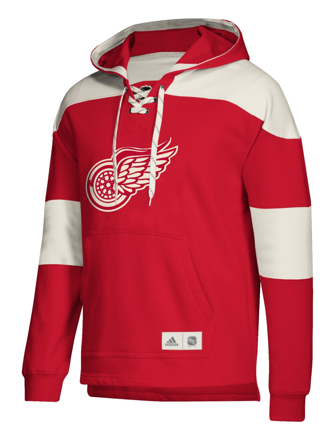 "Detroit Red Wings Adidas NHL Men's ""Crossbar"" Vintage Jersey Sweatshirt"