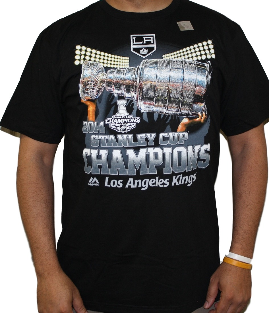 "Los Angeles Kings 2014 Stanley Cup Champions Majestic ""Dump & Chase"" T-Shirt"
