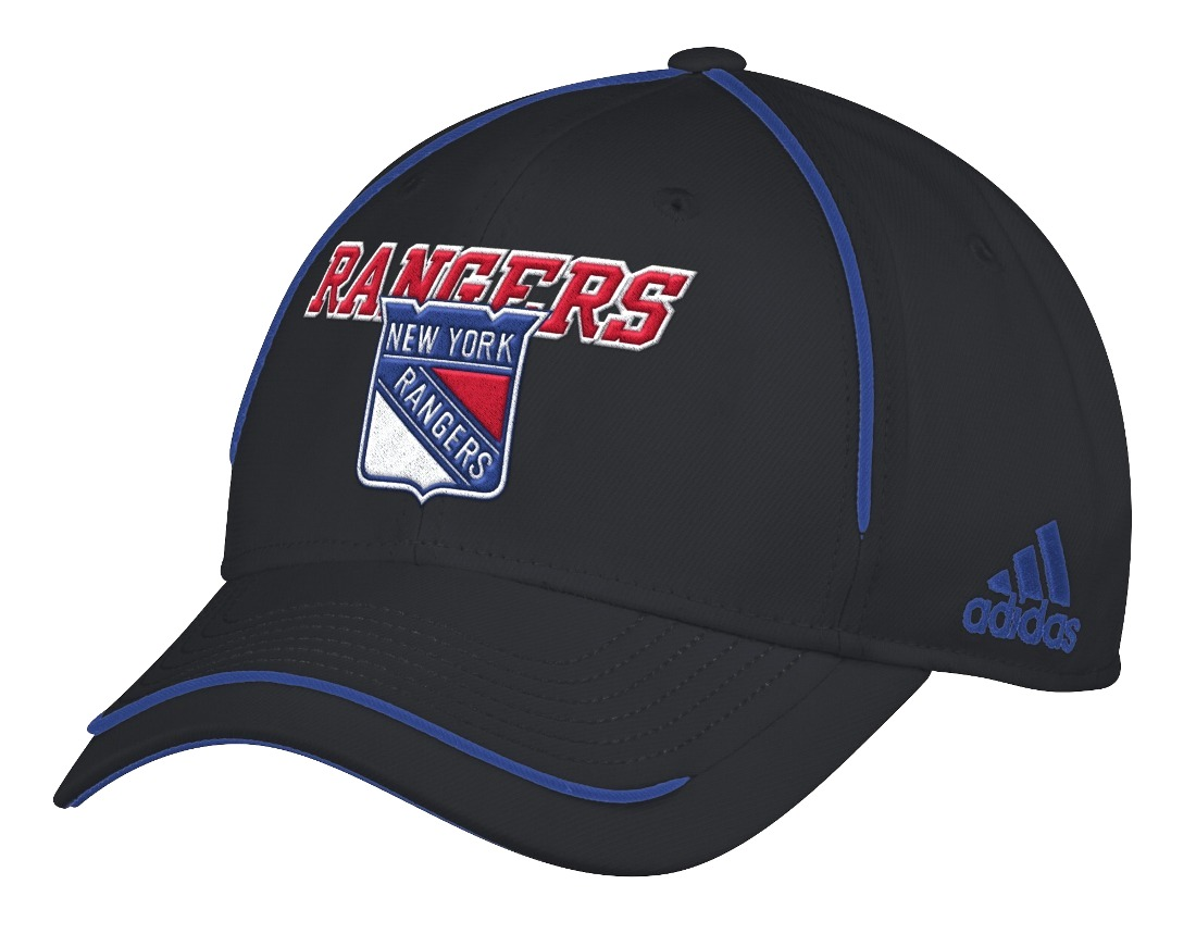 "New York Rangers Adidas NHL ""Piping Fade"" Structured Adjustable Hat"