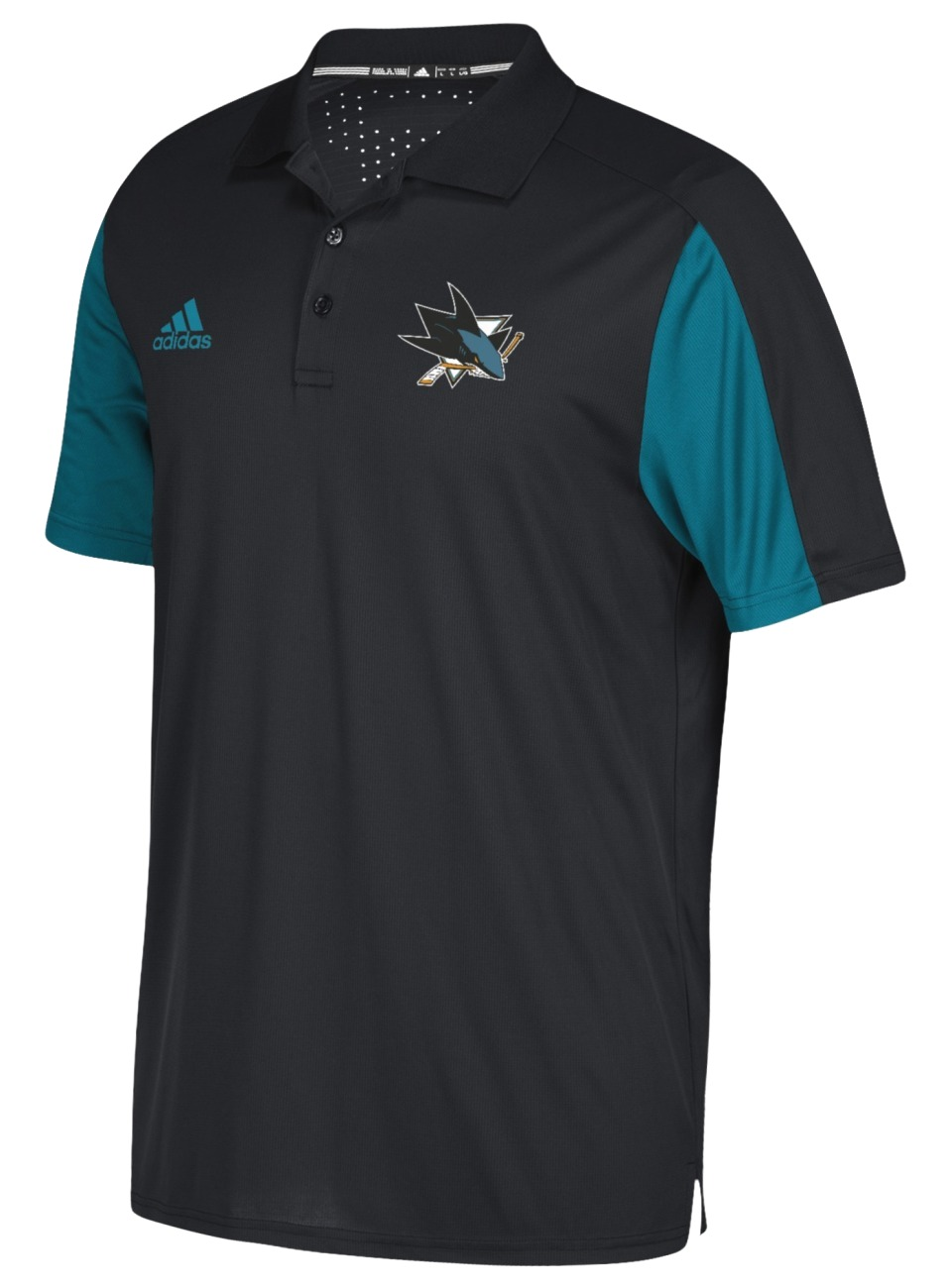 San Jose Sharks Adidas NHL Men's 2017 Authentic Game Day Polo Shirt
