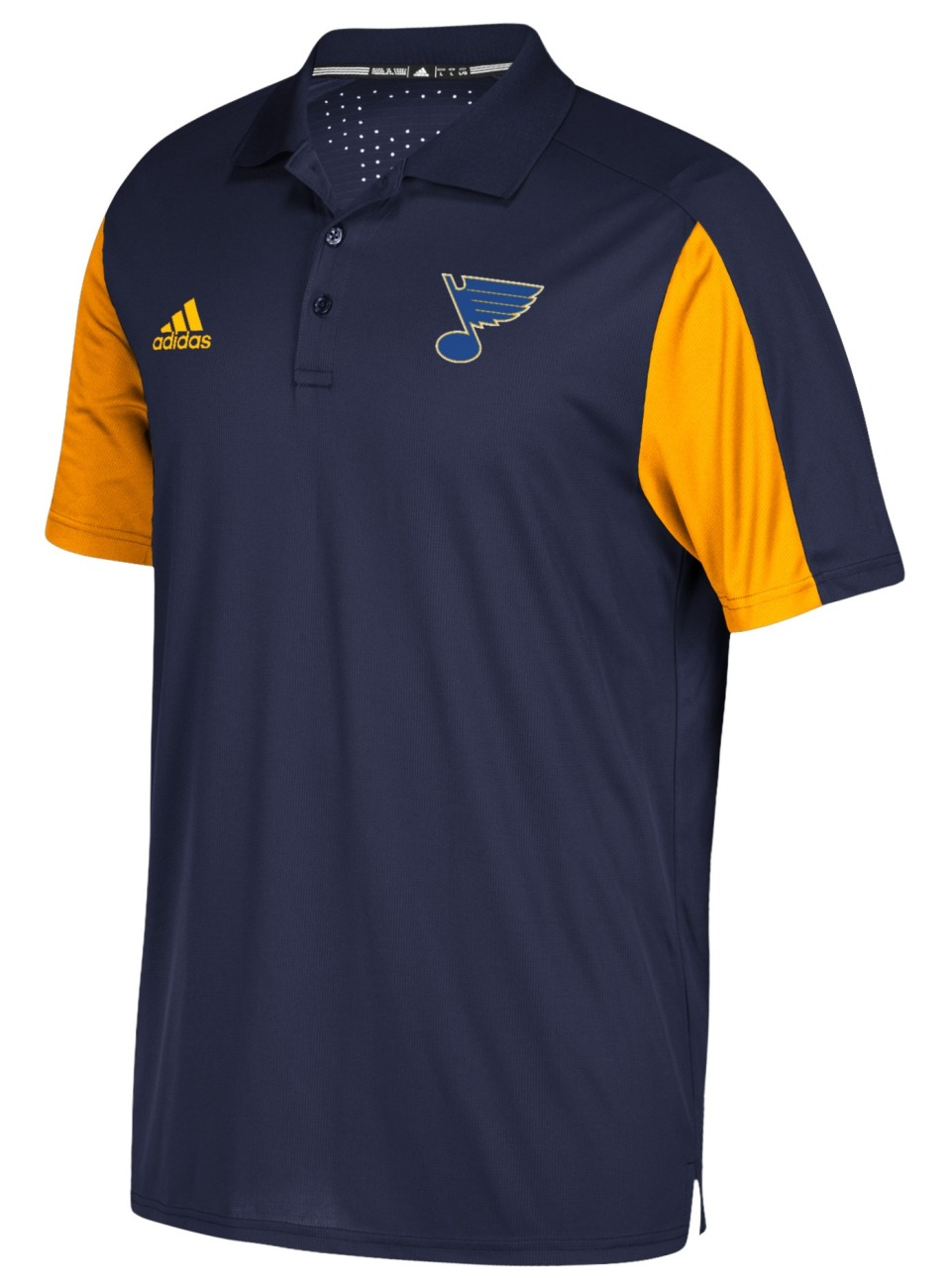 St. Louis Blues Adidas NHL Men's 2017 Authentic Game Day Polo Shirt