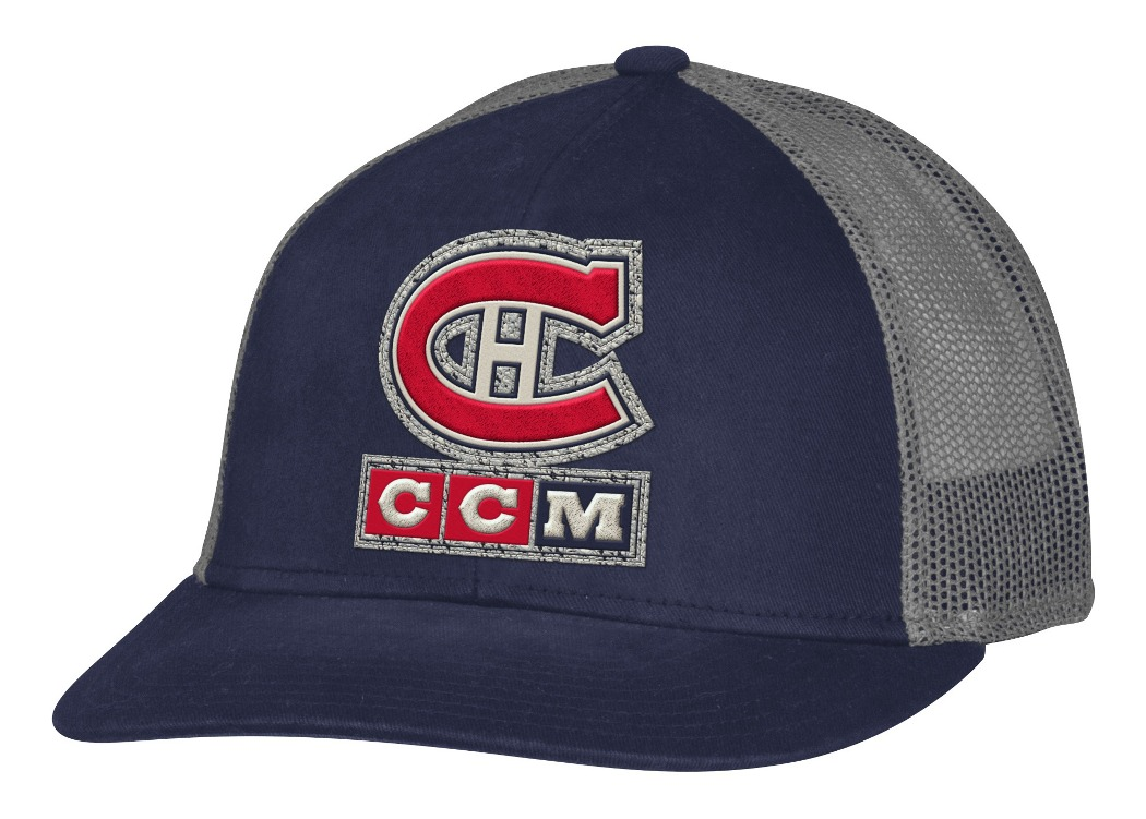 "Montreal Canadiens CCM NHL ""Trucking"" Structured Adjustable Mesh Back Hat"