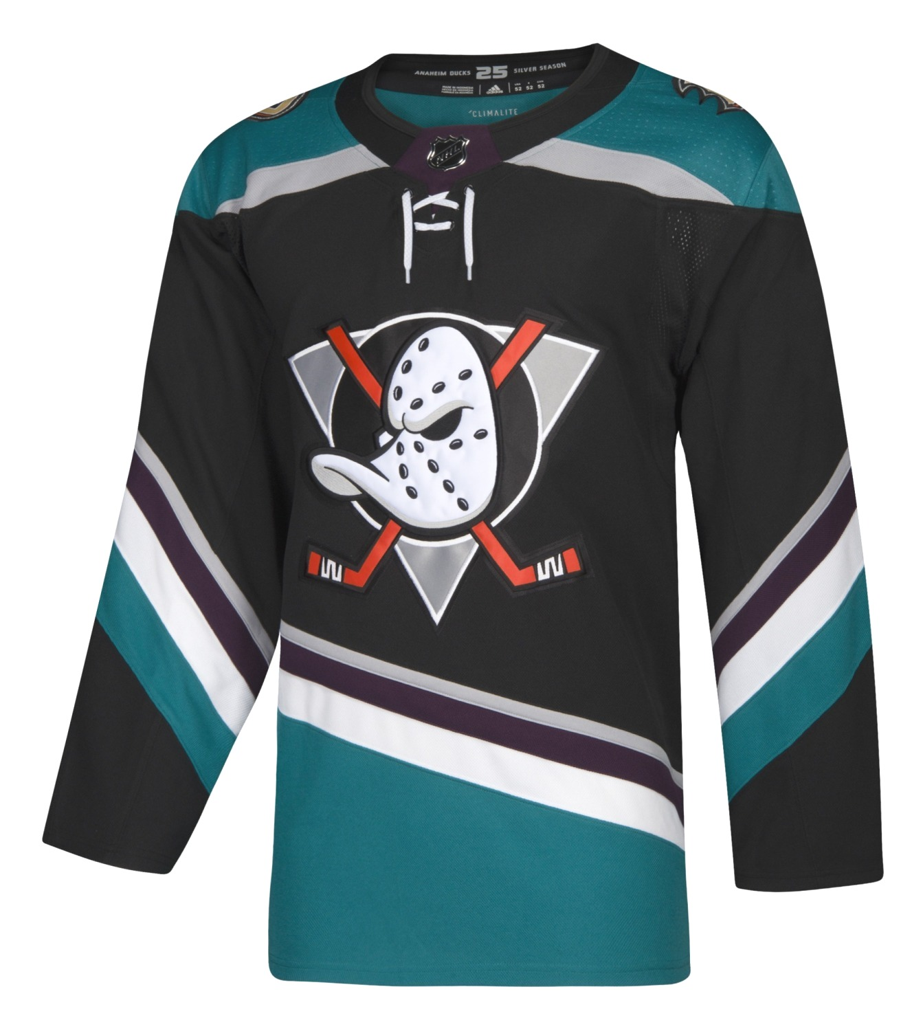Anaheim Ducks Adidas NHL Men's Climalite Authentic Alternate Hockey Jersey
