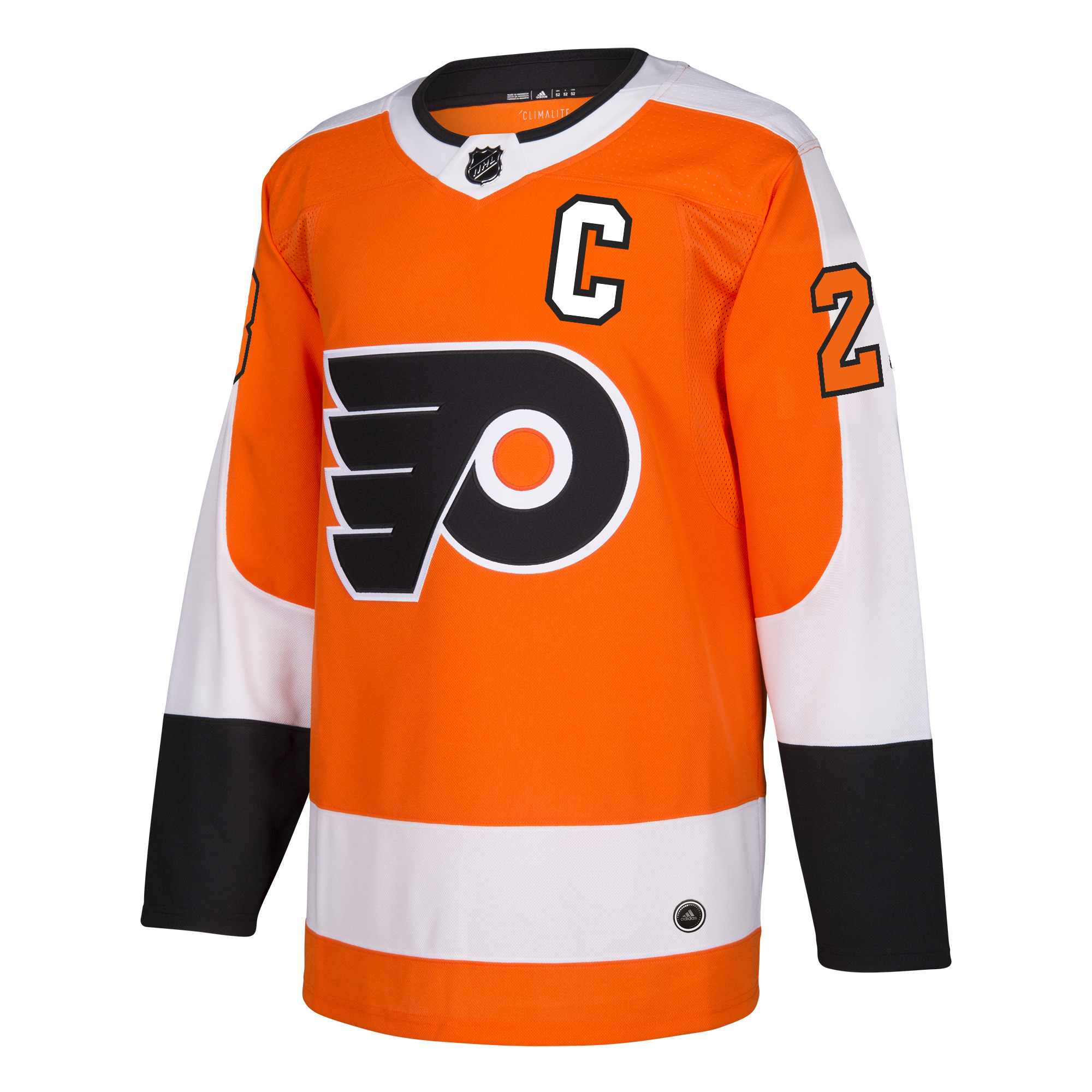 Claude Giroux Philadelphia Flyers Adidas NHL Men's Authentic Orange Jersey