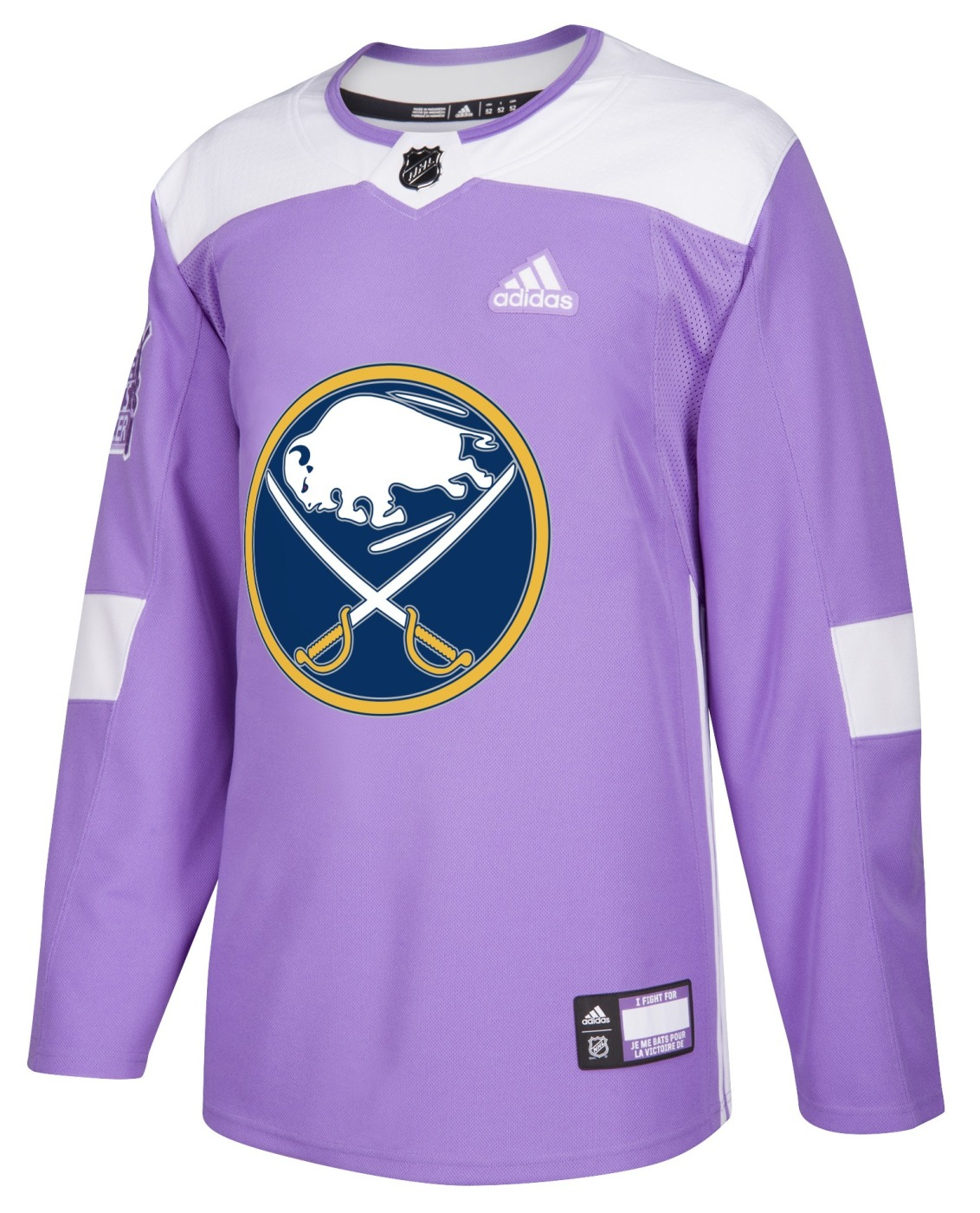 Buffalo Sabres Adidas NHL Hockey Fights Cancer Men's Authentic Practice Jersey