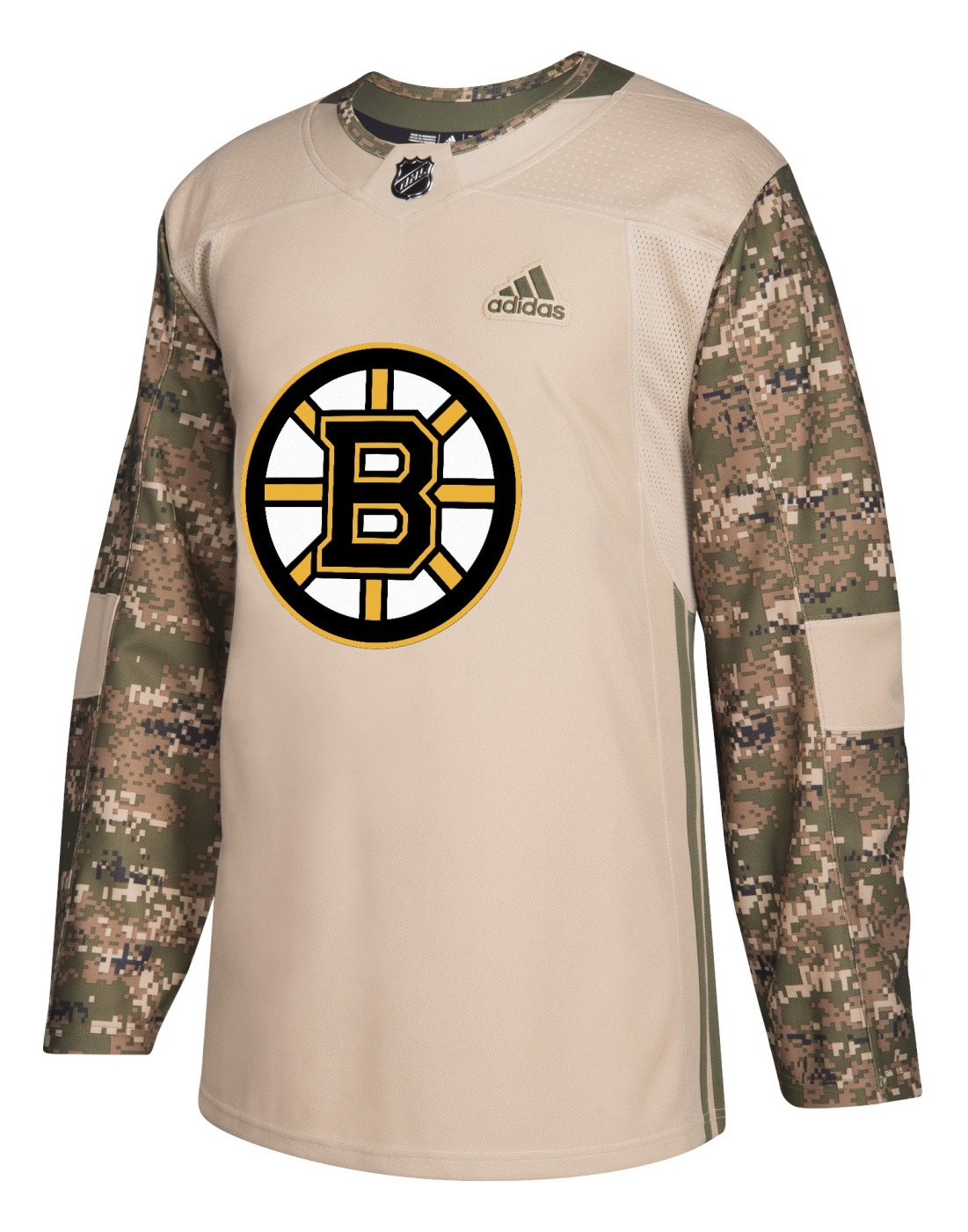 Boston Bruins Adidas NHL Camouflage Pre-Game Authentic Warm Up Jersey