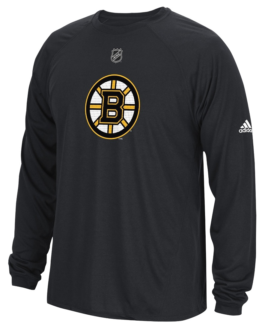 "Boston Bruins Adidas NHL ""Primary Position"" Climalite Long Sleeve T-Shirt"