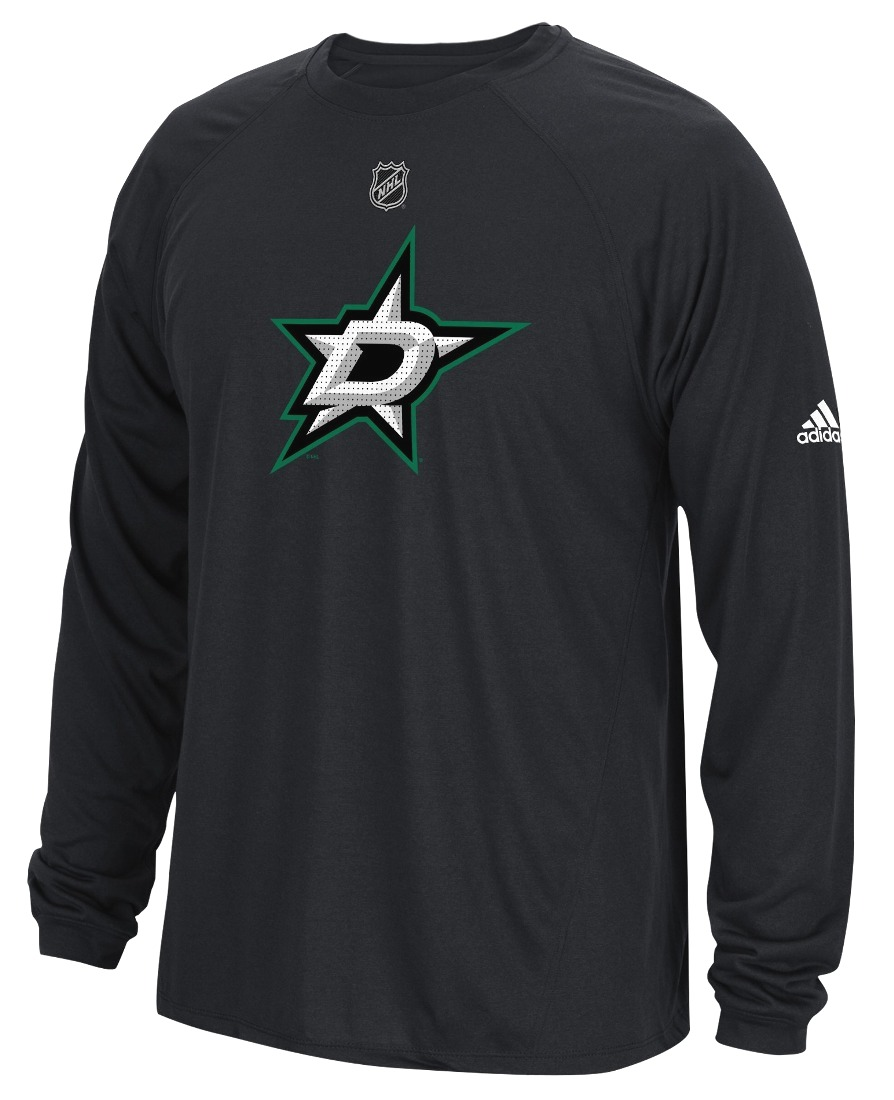 "Dallas Stars Adidas NHL ""Primary Position"" Climalite Long Sleeve T-Shirt"
