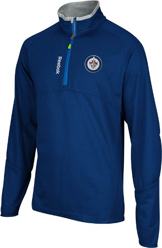 Winnipeg Jets Reebok 2012 Center Ice Baselayer 1/4 Zip Performance Sweatshirt