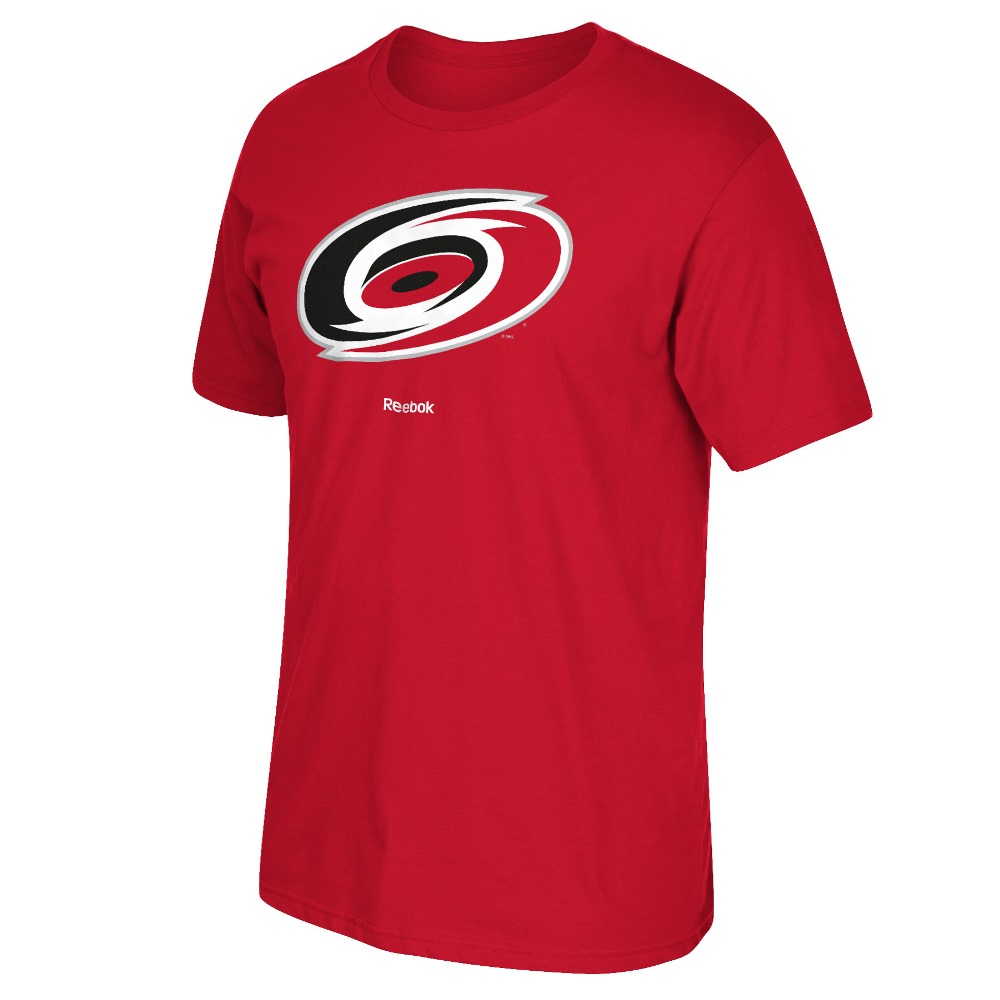 Carolina Hurricanes Reebok NHL Primary Logo Men's Red T-Shirt