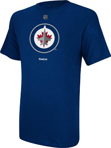 Winnipeg Jets Reebok NHL Primary Logo T-Shirt - Navy