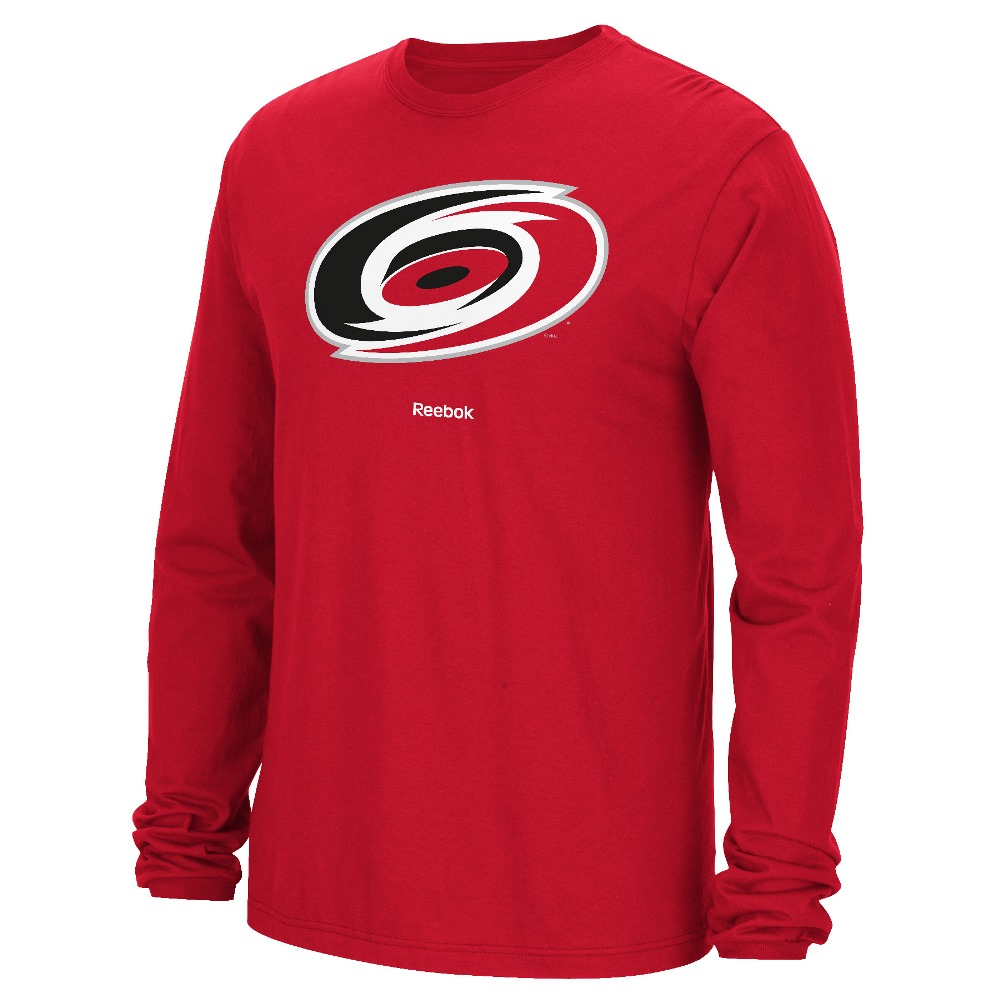 Carolina Hurricanes Reebok NHL Jersey Crest Long Sleeve Men's T-Shirt