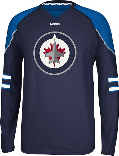 Winnipeg Jets Reebok NHL Edge Jersey Long Sleeve T-shirt
