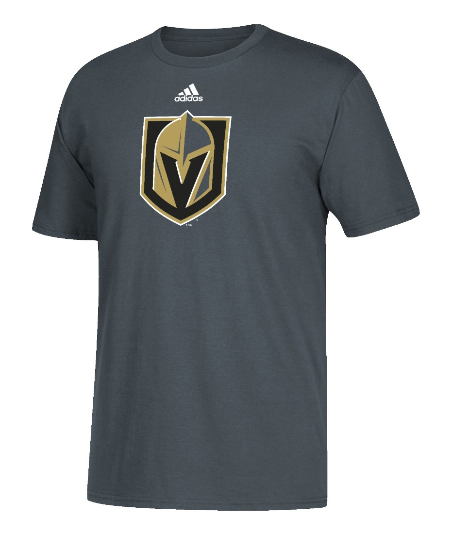 Las Vegas Golden Knights Adidas NHL Primary Logo Men's Gray Short Sleeve T-Shirt