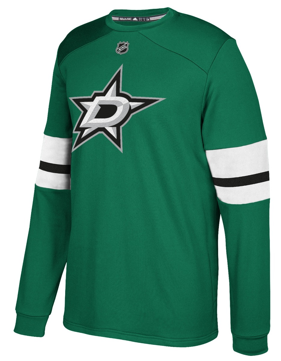 "Dallas Stars Adidas NHL ""Platinum"" Men's Long Sleeve Jersey Shirt"